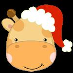 Giraffe_Santa