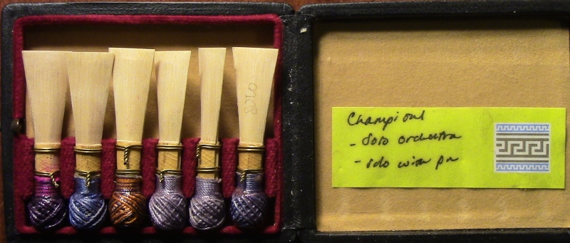 "My ""Champion"" Reeds for my Puchner Bassoon. Find out which are Danzi Cane in the Video!"