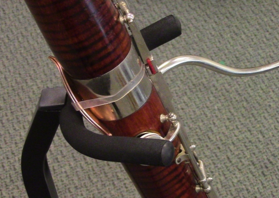 My Bassoon with the LefreQue Sound Panels bumping into the Hercules Bassoon Stand.