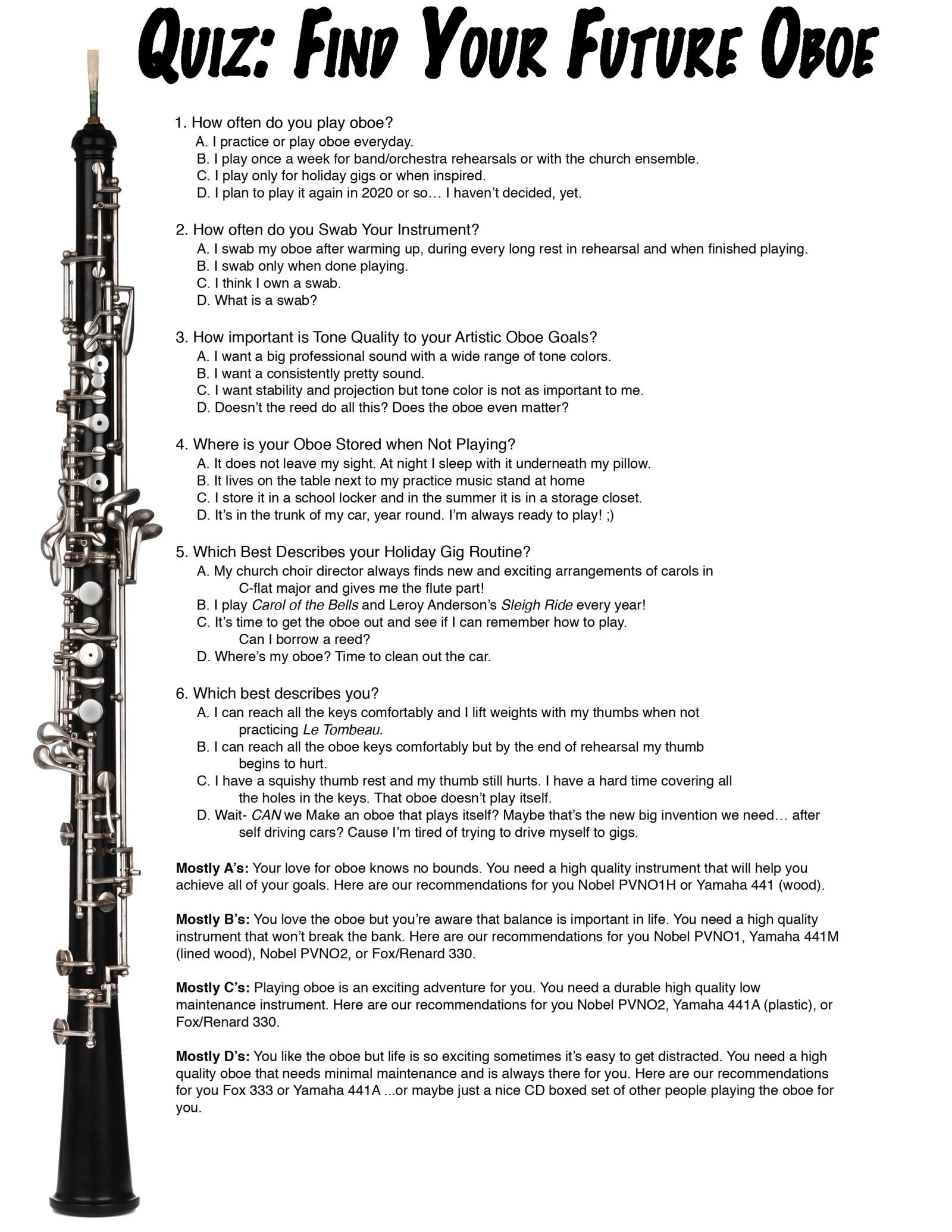 my favorite activity describes practice oboe performance 4